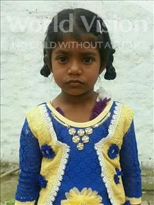 Choose a child to sponsor, like this little girl from Vaishali, Premsita age 5