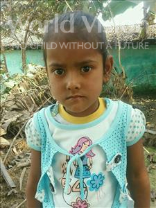 Choose a child to sponsor, like this little girl from Vaishali, Ankita age 5