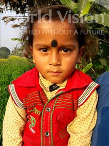 Choose a child to sponsor, like this little boy from Vaishali, Aryan age 3