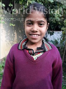 Choose a child to sponsor, like this little girl from Vaishali, Rupa age 7