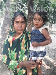 Choose a child to sponsor, like this little girl from Vaishali, Tannaya age 4