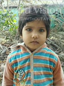 Choose a child to sponsor, like this little girl from Vaishali, Aashu age 4