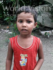 Choose a child to sponsor, like this little girl from Vaishali, Riya age 4