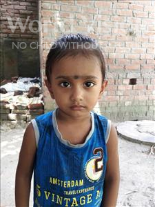 Choose a child to sponsor, like this little boy from Vaishali, Deep age 3