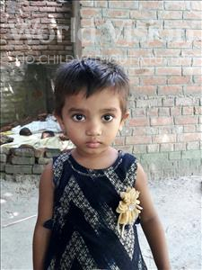 Choose a child to sponsor, like this little girl from Vaishali, Aradhya age 2