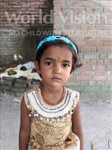 Choose a child to sponsor, like this little girl from Vaishali, Siwangi age 4