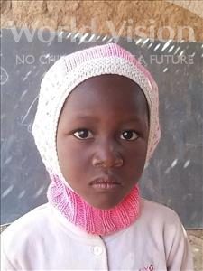 Choose a child to sponsor, like this little girl from Sirba, Raouda age 5