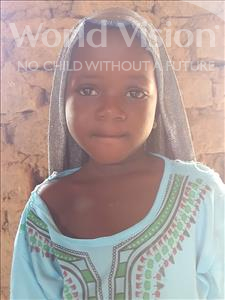 Choose a child to sponsor, like this little girl from Komabangou, Zeinaba age 7
