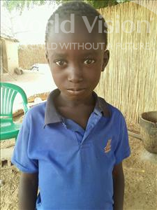 Choose a child to sponsor, like this little boy from Mbella, Abdou Lakhat age 7