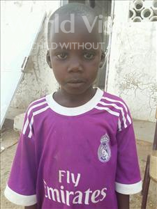 Choose a child to sponsor, like this little boy from Mbella, Niokhor age 7