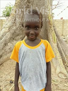 Choose a child to sponsor, like this little girl from Mbella, Ndeye Fatou age 7