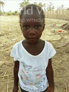 Choose a child to sponsor, like this little girl from Mbella, Mame Diarra age 5