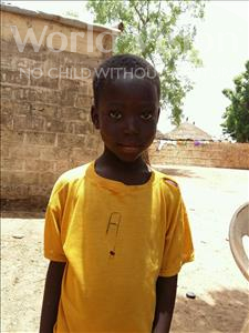 Choose a child to sponsor, like this little boy from Mbella, Eladji age 6