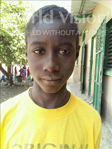 Choose a child to sponsor, like this little boy from Loul, Coly age 13