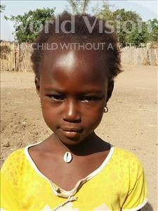 Choose a child to sponsor, like this little girl from Loul, Therese Coumba age 8
