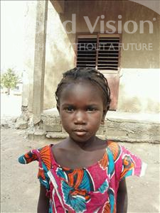 Choose a child to sponsor, like this little girl from Loul, Dienaba age 4