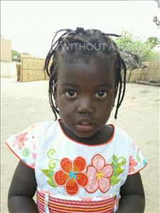 Choose a child to sponsor, like this little girl from Loul, Awa Birame age 3