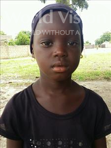 Choose a child to sponsor, like this little girl from Loul, Bernadette age 6