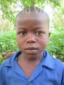 Augustine, aged 7, from Sierra Leone, is hoping for a World Vision sponsor