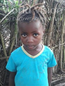 Choose a child to sponsor, like this little girl from Jong, Massah age 5
