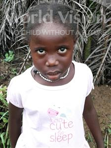 Choose a child to sponsor, like this little girl from Jong, Cecilia age 5
