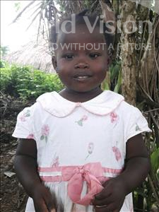 Choose a child to sponsor, like this little girl from Jong, Evelyn age 3
