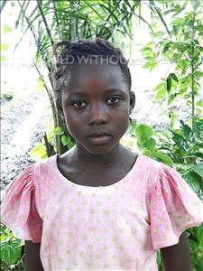 Choose a child to sponsor, like this little girl from Jong, Ishar Koroma age 8