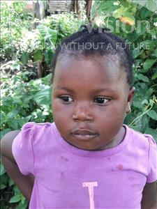 Choose a child to sponsor, like this little girl from Jong, Aminata age 3
