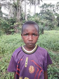 Choose a child to sponsor, like this little boy from Tegloma, Andansie age 8