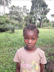 Choose a child to sponsor, like this little girl from Tegloma, Massh age 8