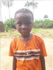 Choose a child to sponsor, like this little boy from Tegloma, Sharka Ii age 6