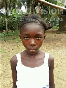 Choose a child to sponsor, like this little girl from Jaiama Bongor, Iyesatu age 10