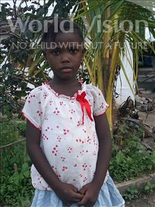Choose a child to sponsor, like this little girl from Jaiama Bongor, Makaday age 5