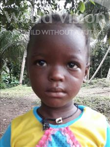 Choose a child to sponsor, like this little girl from Jaiama Bongor, Massah age 3