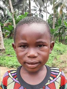 Choose a child to sponsor, like this little boy from Jaiama Bongor, Lahai age 5