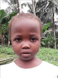 Choose a child to sponsor, like this little girl from Jaiama Bongor, Mahawa age 2