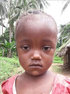 Choose a child to sponsor, like this little girl from Jaiama Bongor, Satta age 3