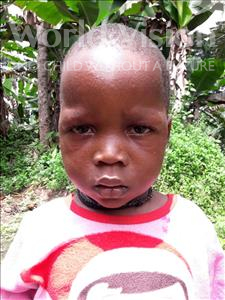 Choose a child to sponsor, like this little boy from Jaiama Bongor, Mohamed age 3
