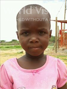 Choose a child to sponsor, like this little girl from Kilimatinde, Onester Silvanus age 5