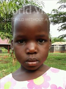 Choose a child to sponsor, like this little girl from Kibiga-Mulagi, Mable age 7