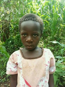 Choose a child to sponsor, like this little girl from Kibiga-Mulagi, Resty age 7