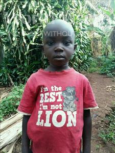Choose a child to sponsor, like this little boy from Kibiga-Mulagi, Isaac age 6