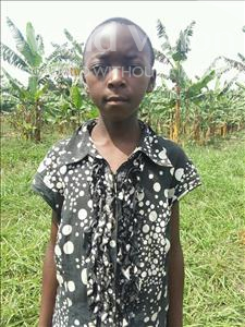 Choose a child to sponsor, like this little girl from Kibiga-Mulagi, Regina age 11