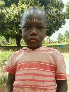 Choose a child to sponsor, like this little boy from Kibiga-Mulagi, Mukisa age 3