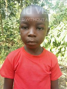 Choose a child to sponsor, like this little boy from Kibiga-Mulagi, Samuel age 6