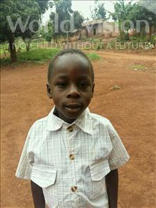 Choose a child to sponsor, like this little boy from Kibiga-Mulagi (Kimu), Adonia age 7