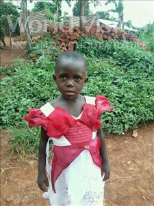 Choose a child to sponsor, like this little girl from Kibiga-Mulagi (Kimu), Jesca age 3