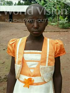 Choose a child to sponsor, like this little girl from Ntwetwe, Happy age 12