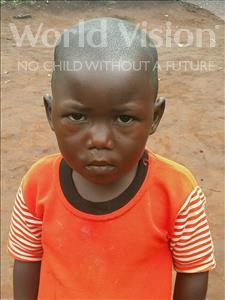 Choose a child to sponsor, like this little boy from Ntwetwe, Eriasi age 3