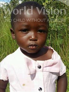 Choose a child to sponsor, like this little girl from Keembe, Eli age 4